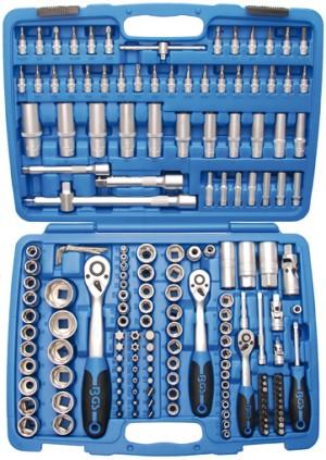 Werkzeugkoffer Steckschlüsselsatz 6,3 (1/4) + 10 (3/8) + 12,5 (1/2), 191-tlg.