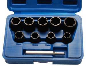 Spezial-Steckschlüsseleinsätze, Spiralnutenprofil, 10-tlg.
