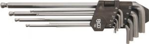 Innen-6-kant-Winkelschlüssel-Set, extra lang, 1,5-10 mm, 9-tlg.