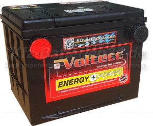 Voltecc Energy 56010 US Frontpol 12V 60Ah 650A Pluspol links