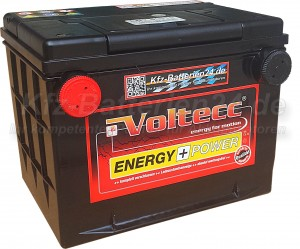 Voltecc Energy 57010 US Frontpol 12V 70Ah 730A Pluspol links