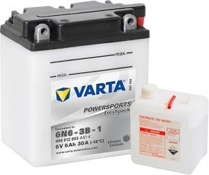 Varta Powersports FP 006012003 6N6-3B-1 6V 6Ah 30 A