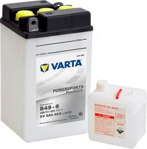 Varta Powersports FP 008011004 B49-6 6V 8Ah 40 A