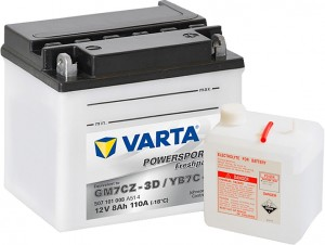 Varta Powersports FP 507101008 YB7C-A 12V 8Ah 110 A