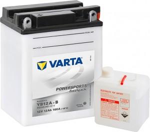 Varta Powersports FP 512015012 YB12A-B 12V 12Ah 160 A