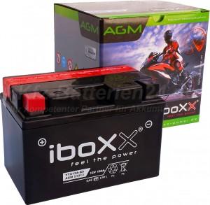 AGM Vliesbatterie Motorradbatterie 51013 YTX12A-BS 10Ah 12V