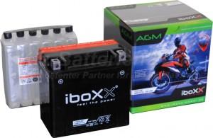 AGM Vliesbatterie Motorradbatterie 51214 YTX14-BS 12Ah 12V