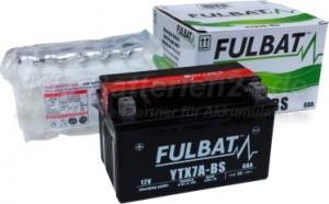 AGM Vliesbatterie Motorradbatterie 50615 YTX7A-BS 6Ah 12V