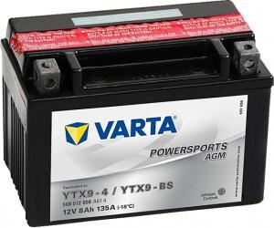 Varta Powersports AGM 508012008 YTX9-BS 12V 8Ah 135 A