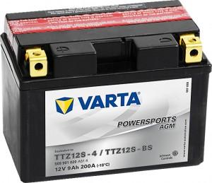 Varta Powersports AGM 509901020 TTZ12S-BS 12V 9Ah 200 A