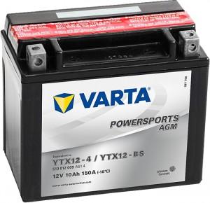 Varta Powersports AGM 510012009 YTX12-BS 12V 10Ah 150A