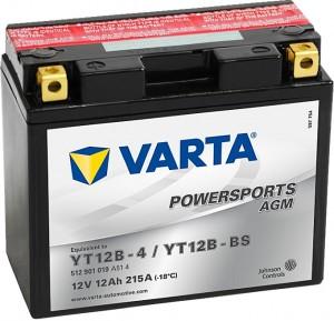 Varta Powersports AGM 512901019 YT12B-BS 12V 12Ah 215 A