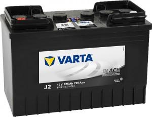 Varta J2 ProMotive Black 12V 125Ah 720A 625014072
