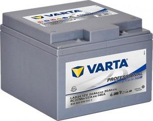 Varta LAD24 Professional DeepCycle AGM 12V 24Ah 160A 830024016