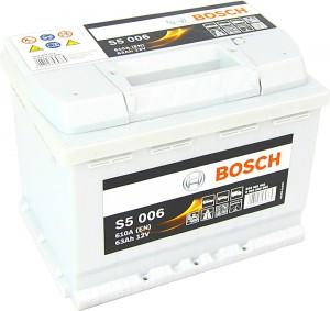 Bosch S5006 12V 63Ah 610A 0092S50060 Pluspol links