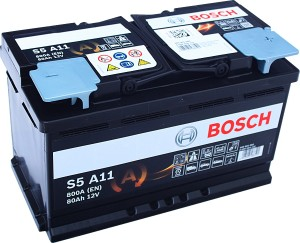 Bosch S5 A11 AGM VLRA Start Stop 12V 80Ah 800A 0 098 S5A 110