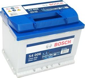 Bosch Silver S4006 12V 60Ah 540A 0092S40060 Pluspol links