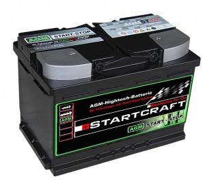 Startcraft AGM VLRA Start Stop Vliesbatterie ST70 12V 70Ah 760A