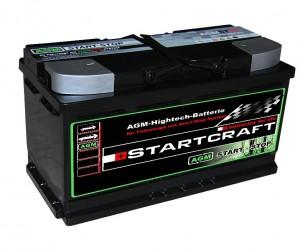Startcraft AGM VLRA Start Stop Vliesbatterie ST95 12V 95Ah 850A