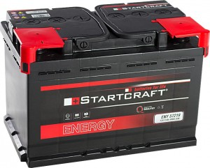 Startcraft Energy 57219 12V 72Ah 680A Pluspol links