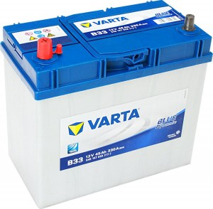 Varta B33 Blue Dynamic 12V 45Ah 330A 545157033 Dünnpol Pluspol links
