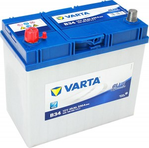 Varta B34 Blue Dynamic 12V 45Ah 330A 545158033 Pluspol links