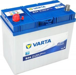 Varta B34 Blue Dynamic 12V 45Ah 330A 545158033 Pluspol links