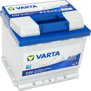 Varta C22 Blue Dynamic 12V 52Ah 470A 552400047