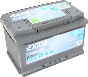EXIDE EA722 Premium Carbon Boost 12V 72Ah 720A