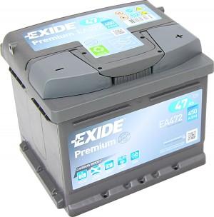 EXIDE EA472 Premium Carbon Boost 12V 47Ah 540A