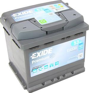 EXIDE EA530 Premium Carbon Boost 12V 53Ah 540A