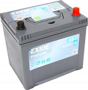 EXIDE EA654 Premium 12V 65Ah 580A