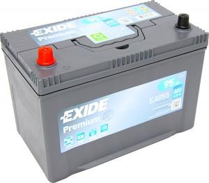 EXIDE EA955 Premium 12V 95Ah 800A Pluspol links