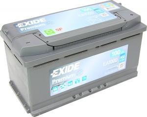 EXIDE EA1000 Premium Carbon Boost 12V 100Ah 900A