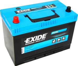 Exide ER450 Dual 12V 95Ah 650A 450Wh Pluspol links