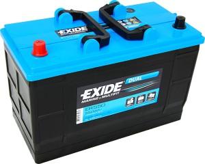 Exide ER550 Dual 12V 115Ah 760A 550Wh Pluspol links