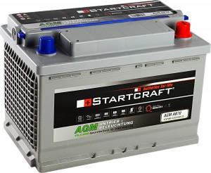 Startcraft AGM AB70 Antrieb + Beleuchtung 12V 70Ah