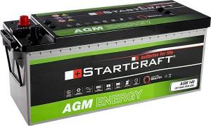 Startcraft AGM140 12V 140Ah 950A Vliesbatterie