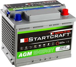 Startcraft AGM60 12V 60Ah 550A Vliesbatterie