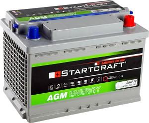 Startcraft AGM70 12V 70Ah 650A Vliesbatterie