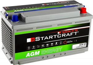 Startcraft AGM90 12V 90Ah 850A Vliesbatterie