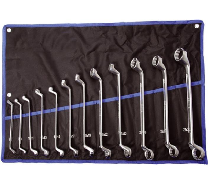 Doppelringschlüssel- Satz, 6x7-27x32 mm, 12-tlg.
