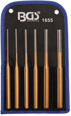 Splintentreiber-Satz, 2,5-8 mm, 200 mm, 6-tlg.