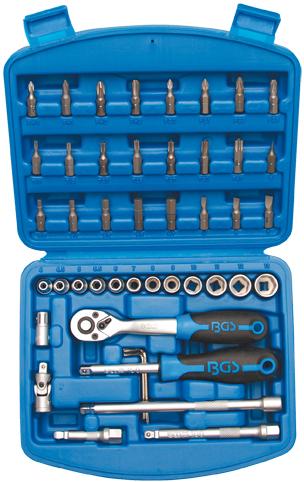 Steckschlüsselsatz 6,3 (1/4), 46-tlg.