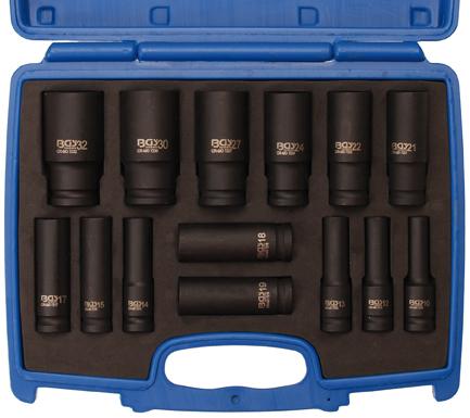Kraft-Steckschlüsseleinsätze 12,5 (1/2), 10-32 mm, 14-tlg.