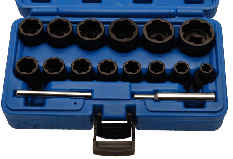 Spezial-Steckschlüsseleinsätze, 8-27 mm, 12,5 (1/2), 16-tlg.