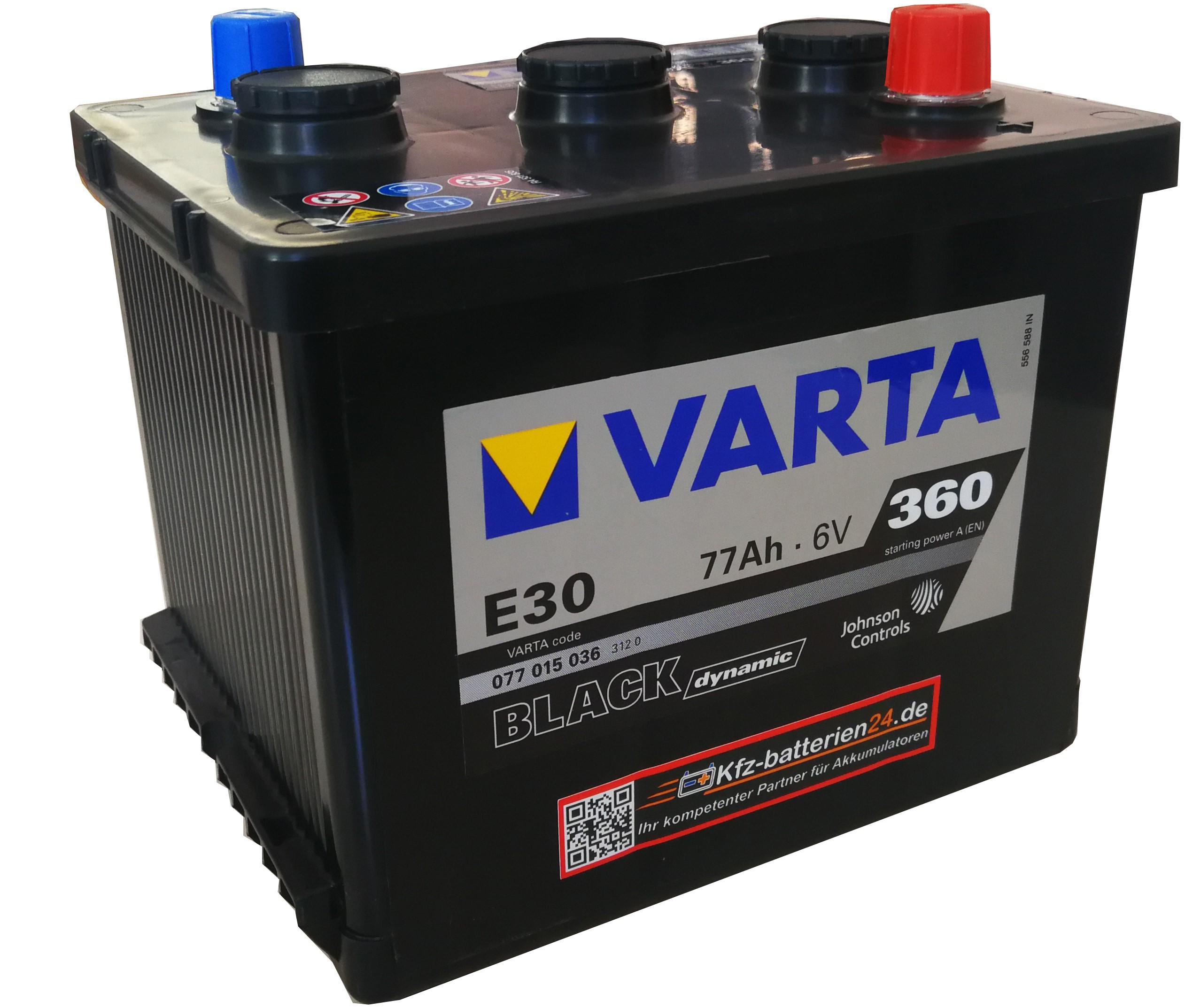 Varta Black Dynamic 077015036 6V 77Ah 360A