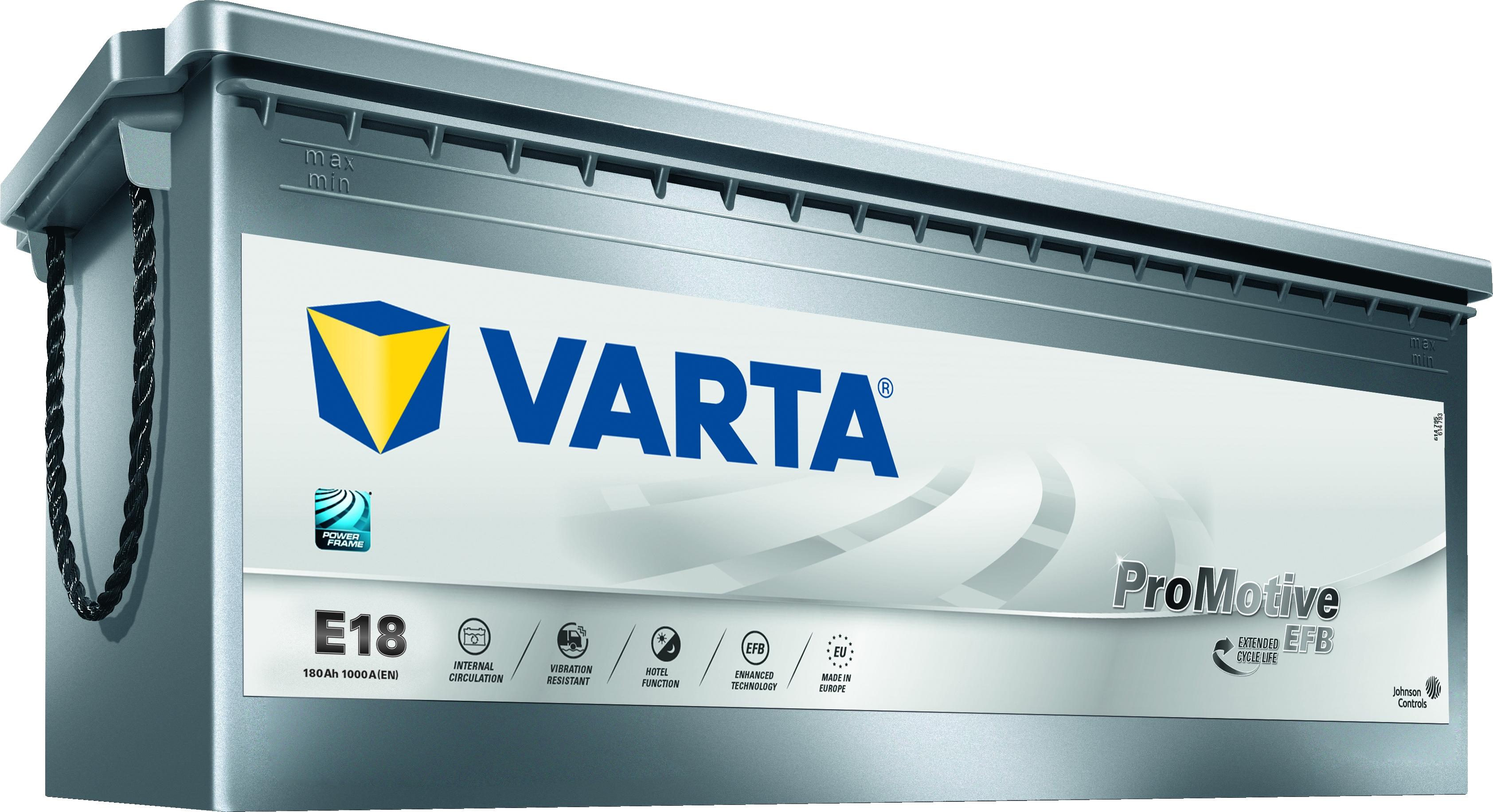 Varta E18 ProMotive EFB 12V 180Ah 1000A 680500100