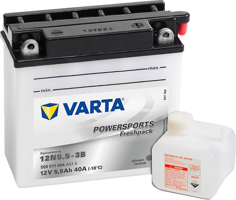 Varta Powersports FP 506011004 12N5.5-3B 12V 5,5Ah 55 A