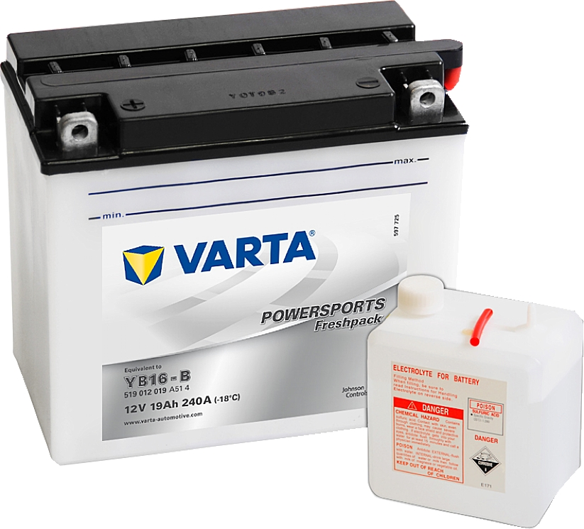 Varta Powersports FP 519012019 YB16-B 12V 19Ah 240 A